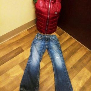 🎄✨True Religion jeans + ✨Calvin Klein puffer vest